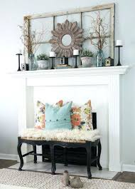 fireplace mantel decorating ideas for fall wedding bench front
