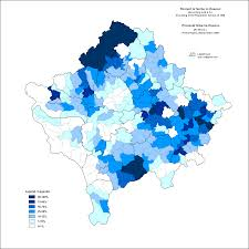 New York Times Census Map this map shows the percent of serbs in kosovo according to the