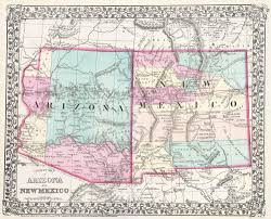 Arizona Maps by Map Arizona And New Mexico Afputra Com