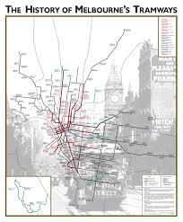 melbourne tram map historical map of the melbourne metropolitan tram