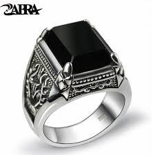 black zircon rings images Silver black zircon ring for men female beauty essentials jpg