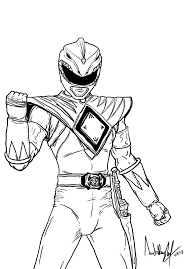 kid mighty morphin power rangers coloring pages 26