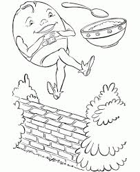 the stylish and also interesting humpty dumpty coloring pages with
