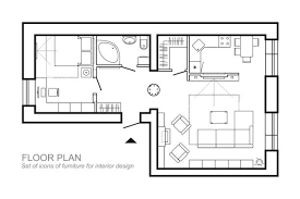 Furniture For Floor Plans House Floor Plan Clip Art Vector Images U0026 Illustrations Istock
