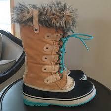 s sorel joan of arctic boots size 9 28 sorel shoes sorel joan of arctic boots turquoise sole