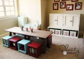 Kids Activity Table With Storage Playroom Kids Table Diy Shanty 2 Chic