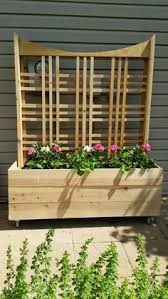 free planter box and trellis woodworking plan garden pinterest