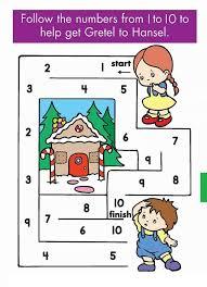 kindergarten counting u0026 numbers mazes worksheets 1 funnycrafts