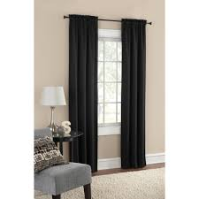 Black And Grey Bedroom Curtains Mainstays Room Darkening Solid Woven Window Curtains Set Of Two
