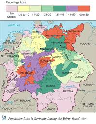 Bohemia Map Population Loss In The Holy Roman Empire During The Thirty Year U0027s