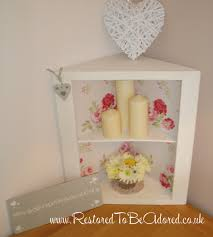 shabby chic corner unit u2013 restored to be adored