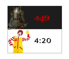 Pennywise The Clown Meme - pennywise it clown 4 19 4 20 before after weed 420 memes