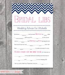 bridal mad libs printable chevron bridal libs mad libs bridal shower
