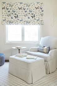 white terry cloth nursery glider design ideas