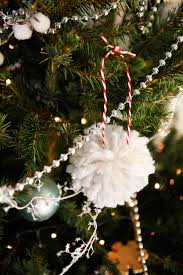 diy yarn pom pom tree ornaments freckle fair