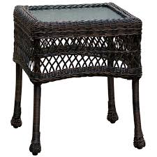 white wicker end table dark brown wicker end table at home at home
