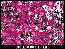 skulls butterflies usa tuff