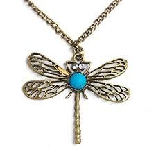 vintage necklace pendant images Classic vintage bronze dragonfly pendant necklace jpg