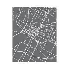 Maps Austin Austin City Map Black Jennasue Maps Touch Of Modern