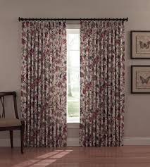 Washable Curtains Insulated Pinch Pleated Drapes Jacobean Floral Print Cornwall