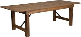 table rentals chicago table farm 96 inch x 40 inch antique rustic rentals chicago il