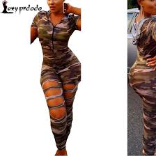 camouflage jumpsuit womens 2018 wholesale sleeve rompers womens jumpsuit army soldier