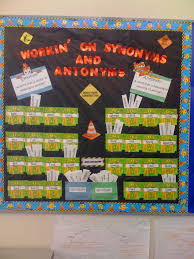 antonym synonym bulletin board idea teaching stuff pinterest