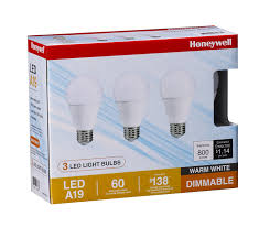Led Versus Fluorescent Light Bulbs by Honeywell Fe0101 9 5w 800 Lm A19 Led Bulb 3 Pack Amazon Com
