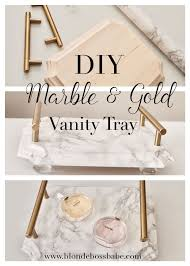 diy marble u0026 gold vanity tray easy and beautiful home decor