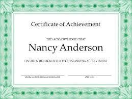 microsoft powerpoint certificate template free achievement