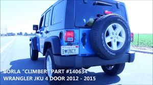 jeep wrangler performance exhaust 2012 2016 jeep wrangler jku performance exhaust system kit borla