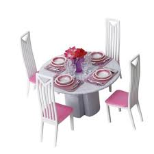 barbie dining room set barbie dining room set dollhouse miniature dining room table chairs