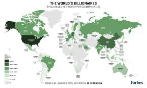 Algeria World Map Forbes Billionaires List Map 2016 Combined Net Worth By Country