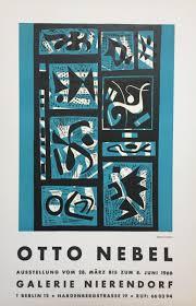 Otto Versand Wohnzimmerm El Vintage Poster Für Otto Nebel Ausstellung In Galerie Nierendorf