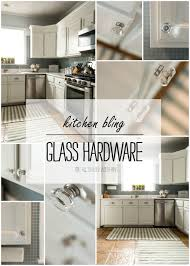 glass hardware in kitchen glass hardware in a white kitchen