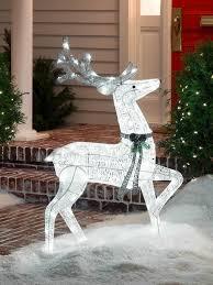 Appealing Reindeer Yard Decorations Christmas 3 For Diy Running