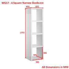 Narrow Cube Bookcase by Furniture Home Andrade Trio Eco Shelf Narrow Cube Unit Bookcase