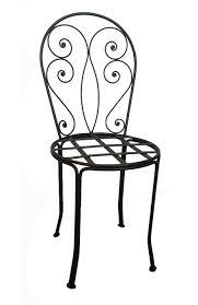 chaises en fer forgé chaise romantique en fer forgé