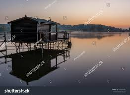 french countryside french countryside lorraine small lake fishermans stock photo