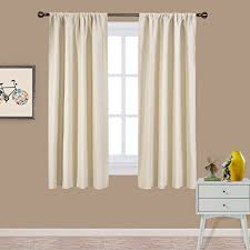 63 Inch Curtains Nicetown Weave Home Decoration Thermal Insulated Solid