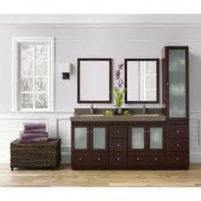 Double Vanity With Tower Linen Tower Bathroom Vanities U0026 Vanity Cabinets Shop The Best