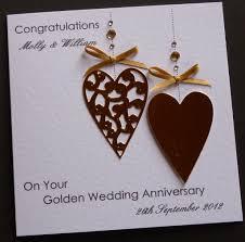 50th wedding anniversary christmas ornament handmade personalised golden 50th wedding anniversary card