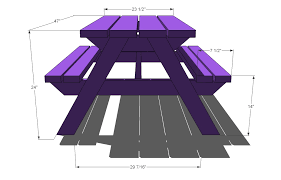 Free Woodworking Plans For Picnic Table by Ana White Build A Bigger Kid U0027s Picnic Table Diy Projects