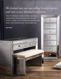 Silver Mirrored Bedroom Furniture by Marais Accent Furniture Collection Mirrored Furniture Macy U0027s