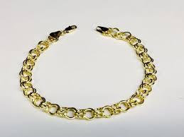 gold charm link bracelet images 14k yellow gold double link charm bracelet length 8 inch ebay jpg