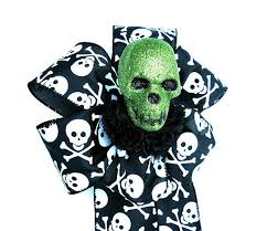 Halloween Gift Wrap - skull halloween gift bow halloween decorative bow gift wrap
