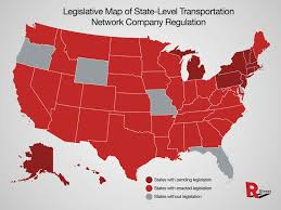 State Map Of Ohio by Map Of State Level Ridesharing Laws R Street Institute R Street