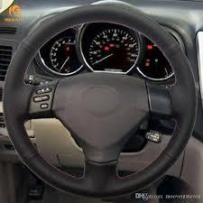 toyota corolla steering wheel cover mewant black artificial leather steering wheel cover for lexus