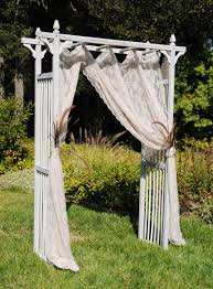 wedding arches cheap whitewashed garden arbor for an outdoor wedding ceremony