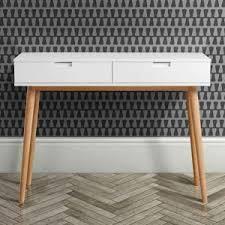 Retro Console Table Hackney White Oak Mid Century Console Table I Retro